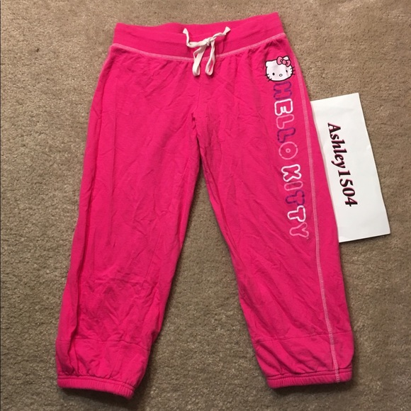 9beca6948 Sanrio Intimates & Sleepwear | Pink Hello Kitty Capri Sweats Pants ...